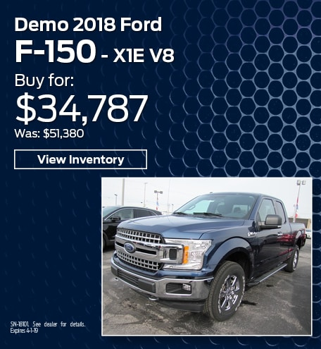 New 2018 Ford F-150 Demo 3/15