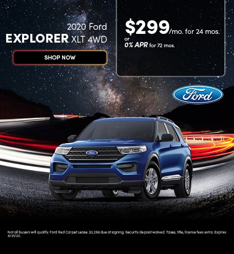 2020 Ford Explorer XLT 4WD - August 2020