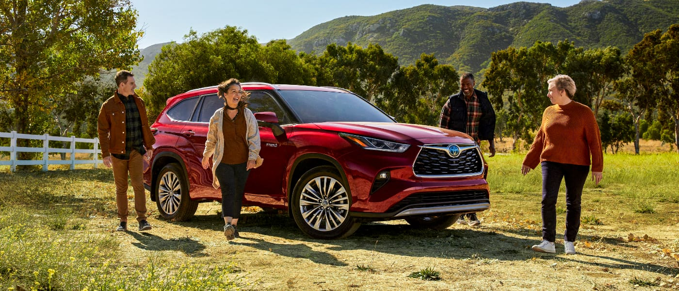 2020 Toyota Highlander parked in a field