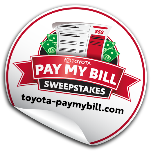 Toyota pay my bill sweepstakes logo