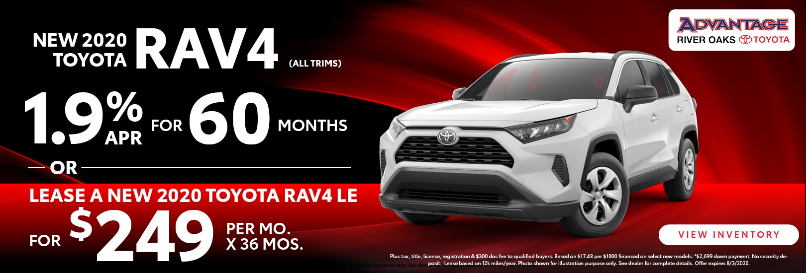 2020 Toyota RAV4 Lease Offer | Advantage Toyota of River Oaks