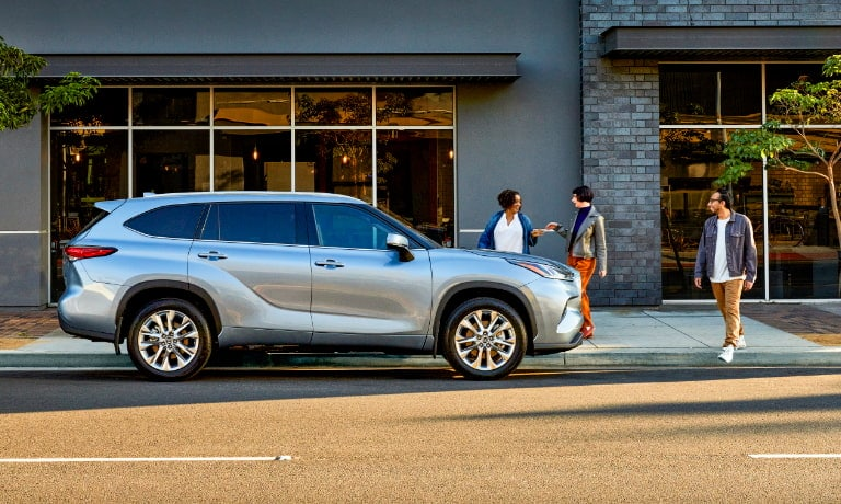 2020 Highlander parked on the street