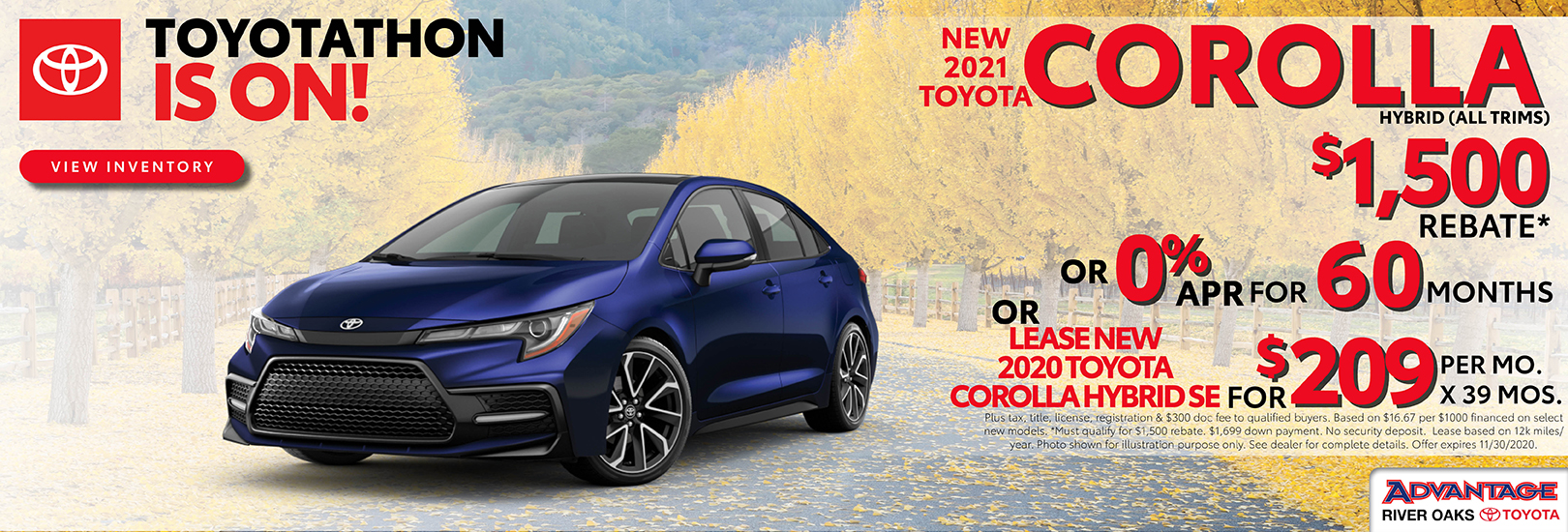 2020 Toyota Corolla Finance Lease Offer | Calumet City, IL
