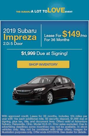 March 2019 Subaru Impreza