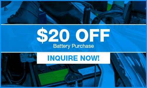 $20 Off Battery Purchase