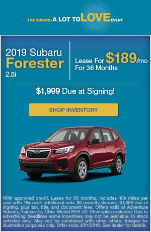 March 2019 Subaru Forester