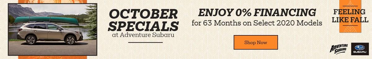 October Specials at Adventure Subaru