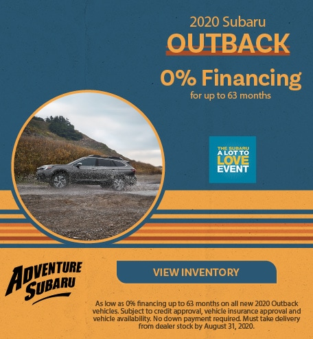 New 2020 Subaru Outback - August Offer