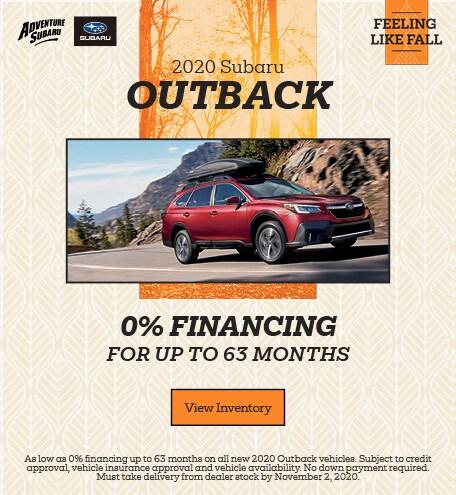 2020 Subaru Outback - October Special