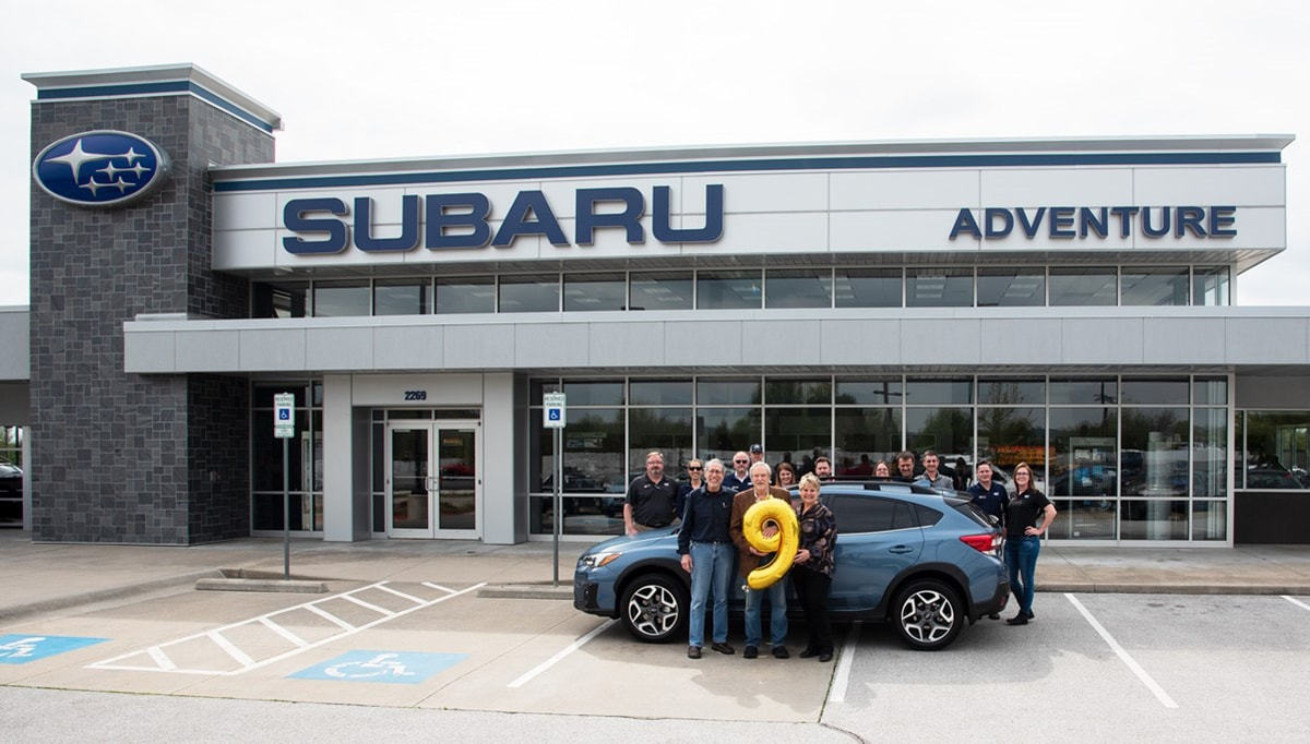 Subaru Fayetteville Ar >> Subaru Of America Inc Sells Nine Millionth Vehicle