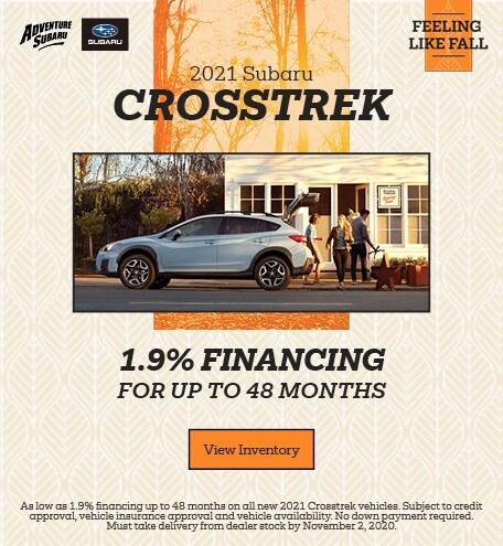 2021 Subaru Crosstrek - October Offer