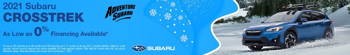 2021 Subaru Crosstrek - January Offer