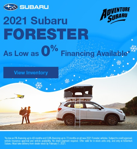 2021 Subaru Forester - January Offer