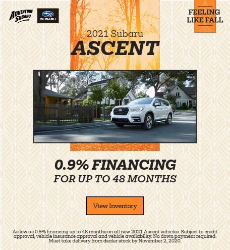 2021 Subaru Ascent - October Offer