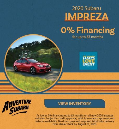 New 2020 Subaru Impreza - August Offer