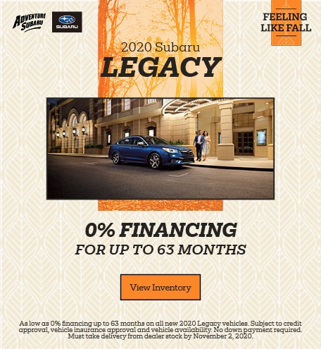 2020 Subaru Legacy - October Offer