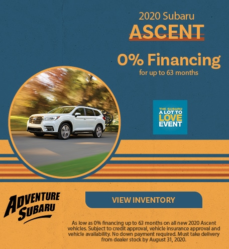 New 2020 Subaru Ascent - August Offer