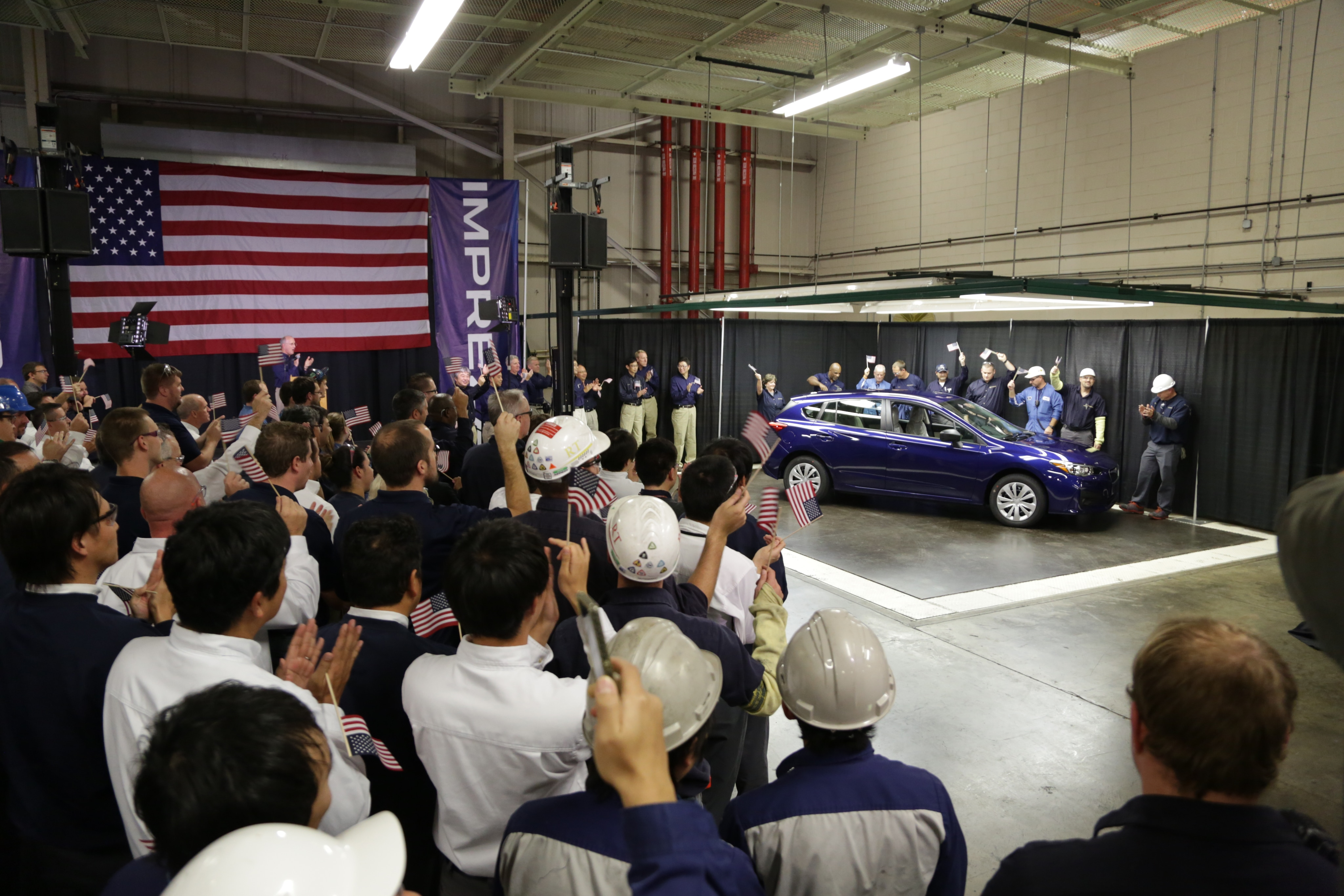 Adventure Subaru | FIRST AMERICAN-MADE SUBARU IMPREZA ROLLS OFF ...
