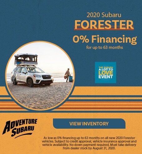 New 2020 Subaru Forester - August Offer