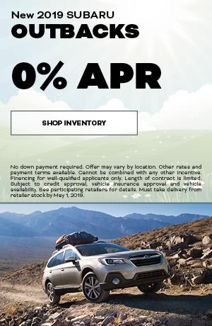 April 2019 Subaru Outback Finance Special