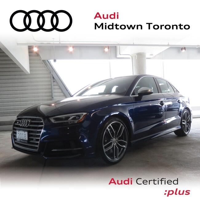 Used 2018 Audi S3 2.0T Progressiv quattro w/ Rear Cam|Audi Park Sedan Toronto