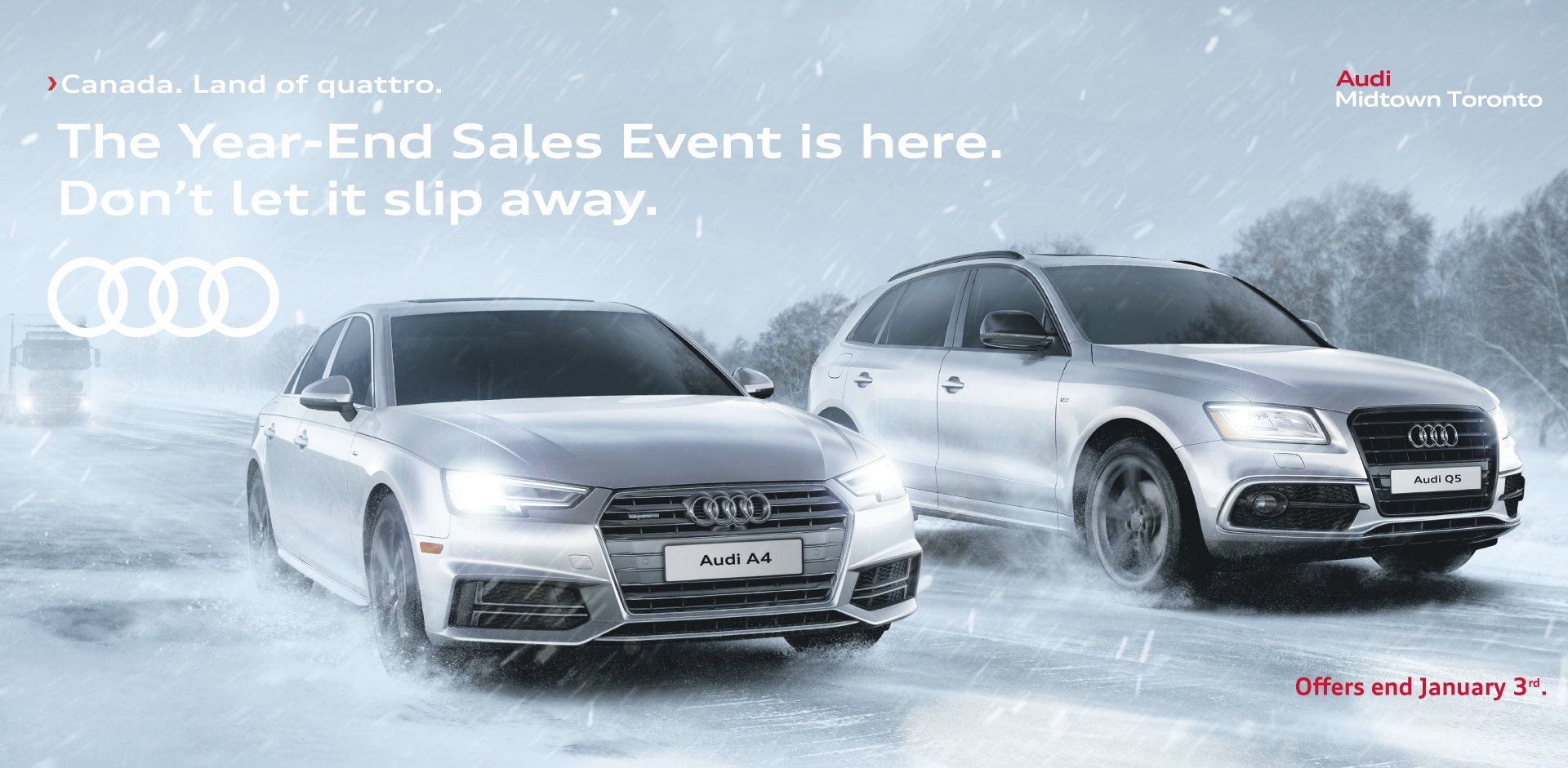 Year End Sales Event At Audi Midtown Toronto Audi Midtown Toronto