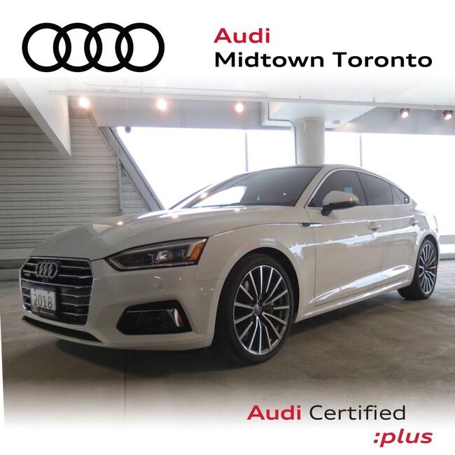 Used 2018 Audi A5 2.0T Technik quattro w/ Sport Seats Lane Assist Sportback Toronto