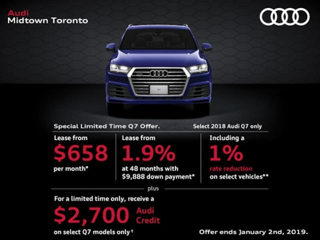 New 2018 Audi Q7 3.0T Technik SUV Toronto