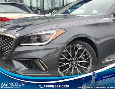 2018 Genesis G80 3.3T Sport|AWD|HEADS UP|NAVI|PANOROOF|360 CAM Sedan