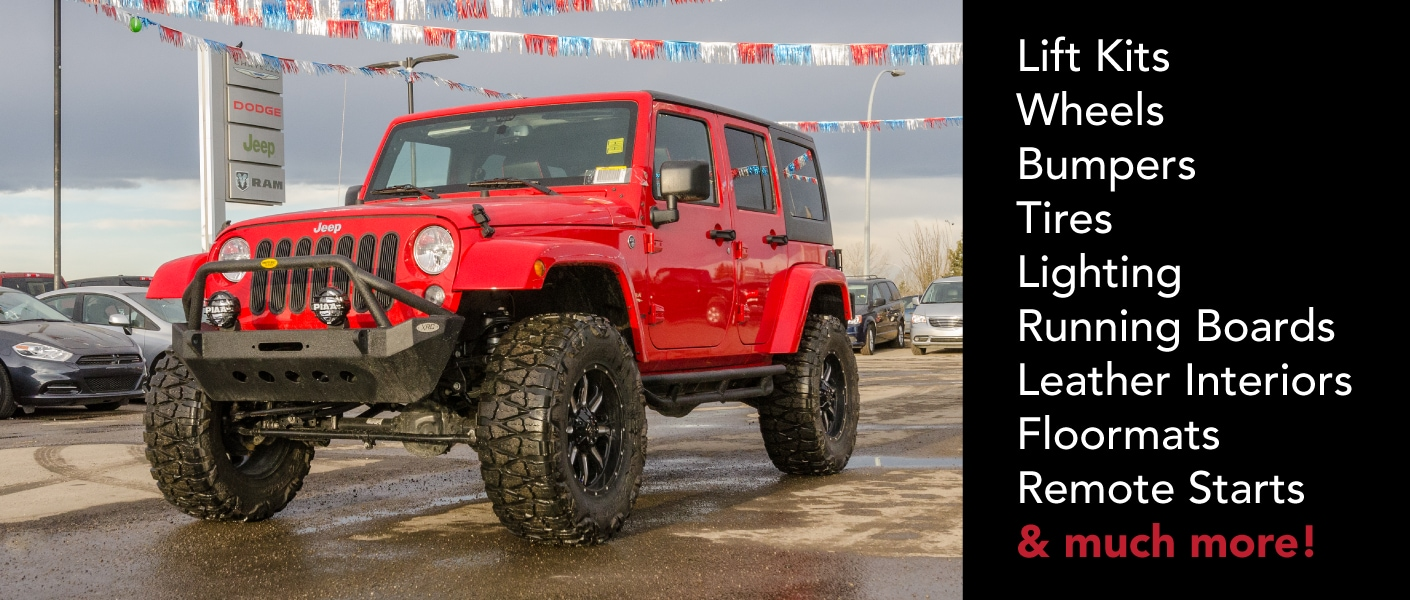 Parts And Accessories At Airdrie Dodge Jeep Ram Carries Genuine Wrangler Bumper Auto In Calgary