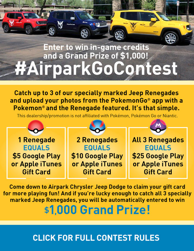 Click for Full AirparkGoContest Rules