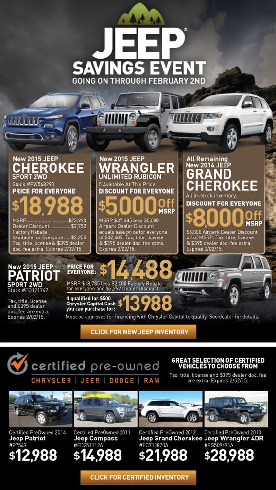 Scottsdale Sales Tax >> Jeep Savings Event Airpark Jeep Sale Scottsdale Arizona