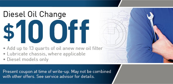 Get $10 Off A Diesel Oil Change At Airpark Dodge Chrysler Jeep