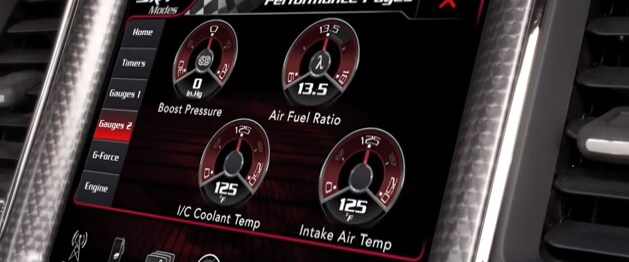 Details On Interior Of 2015 Dodge Challenger SRT With Hellcat Engine