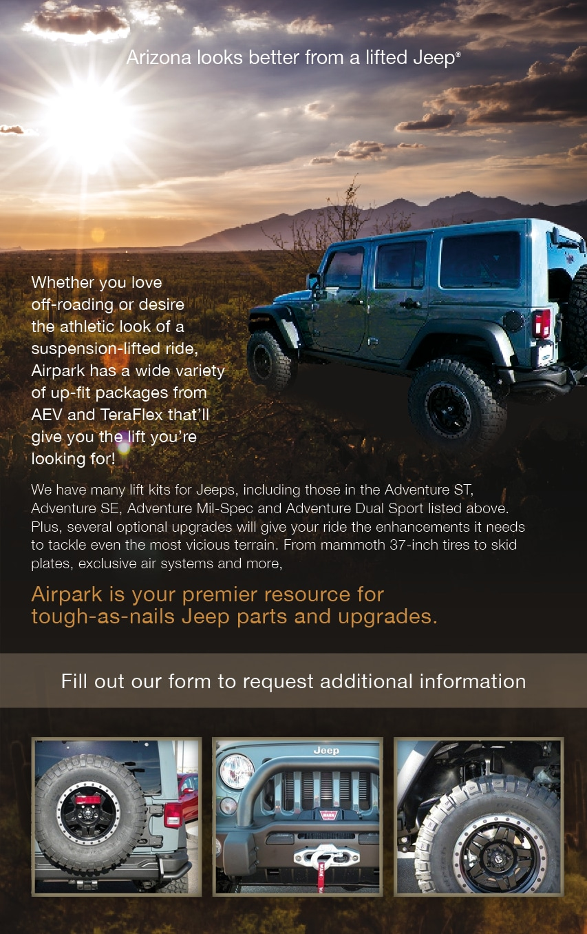 Jeep wrangler suspension jeep lift kits for sale scottsdale az airpark jeep lifts solutioingenieria Images
