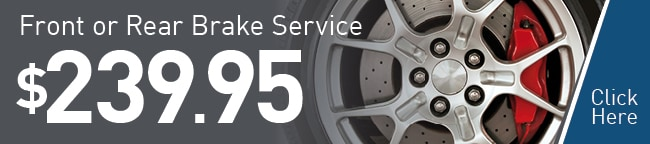 Front Brake Pad Service Coupon, Scottsdale