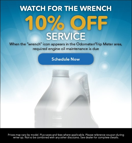 10% Off Service - Watch for the Wrench