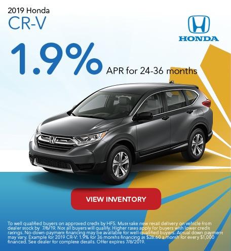June 2019 Honda CR-V