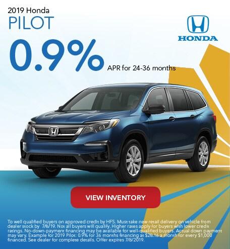 June 2019 Honda Pilot