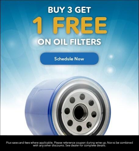 Buy 3 Get 1 Free on Oil Filters