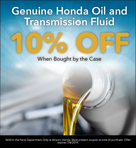 Genuine Honda Oil and Transmission Fluid 10% Off