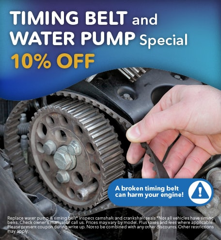 Timing Belt and Water Pump Special