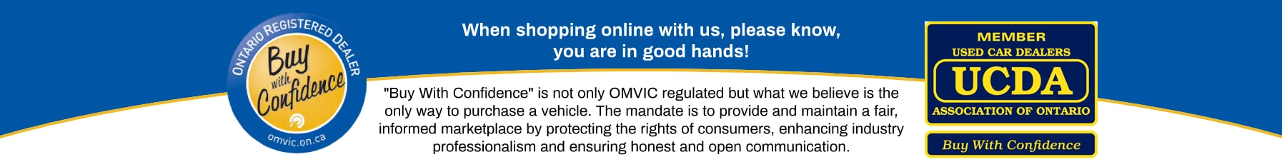 Buy with Confidence - Ontario Vehicle Sales Regulator