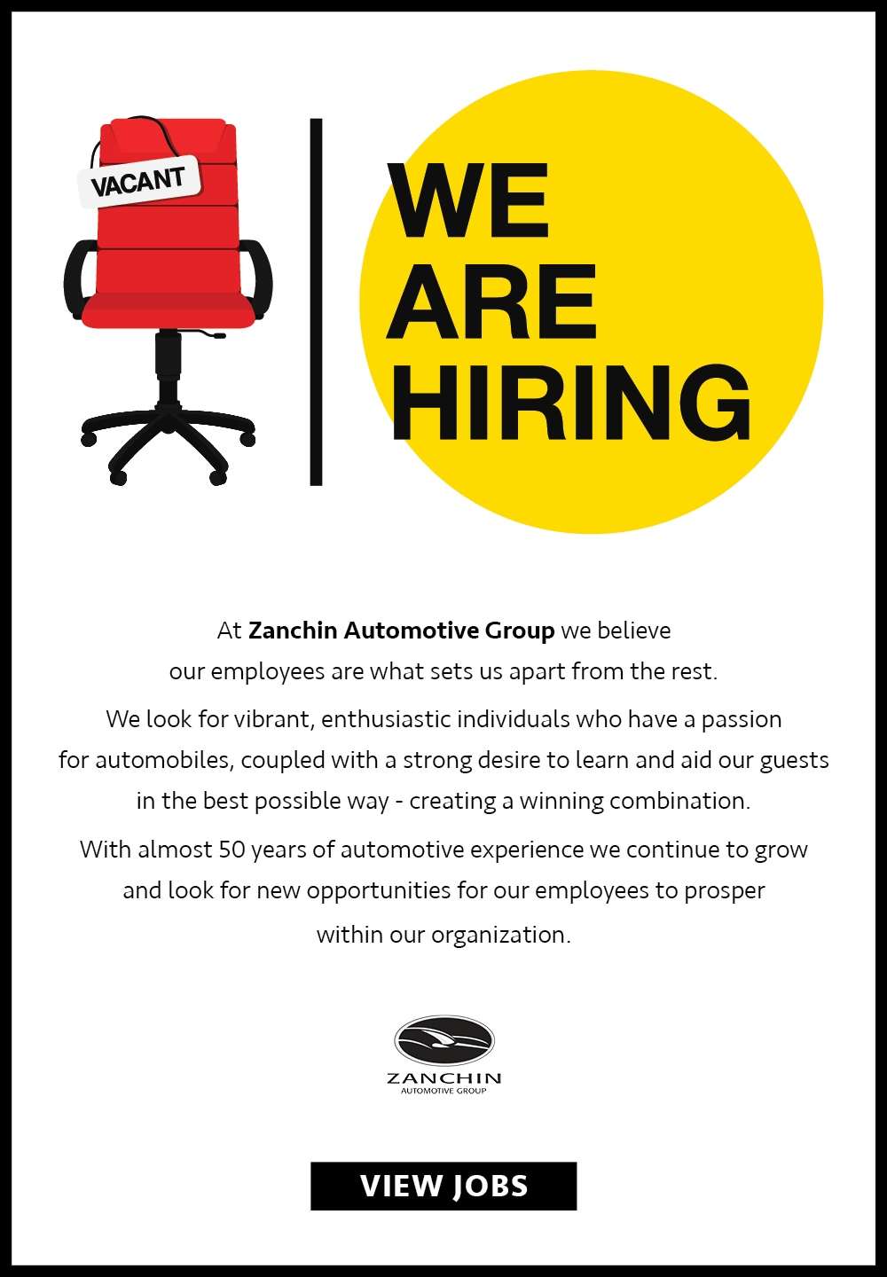 Zanchin Careers - Infiniti Of Brampton