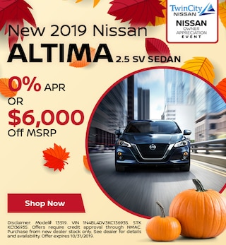 October 2019 Nissan Altima 2.5 SV Sedan
