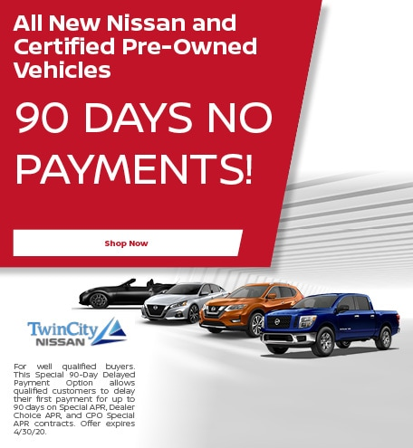 All New Nissan and Certified Pre-Owned Vehicles