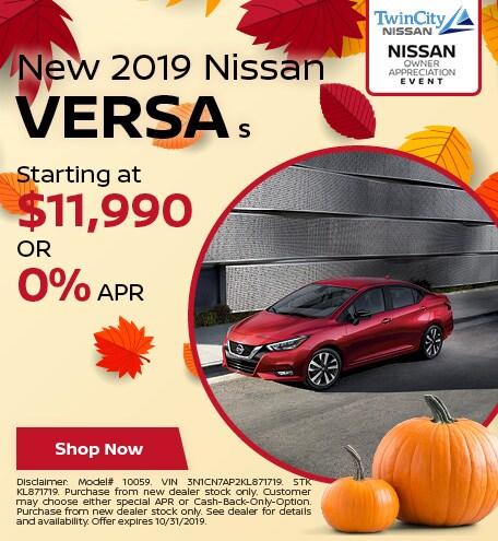 October 2019 Nissan Versa S