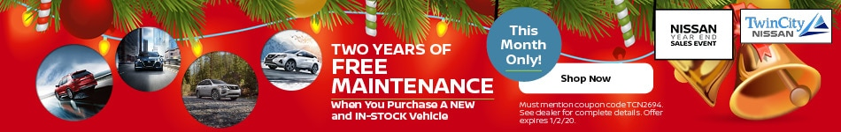 December 2019 Two Years of Free Maintenance