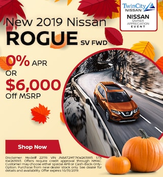 October 2019 Nissan Rogue SV FWD