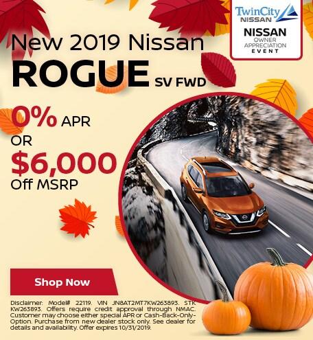 October 2019 Nissan Rogue SV FWD